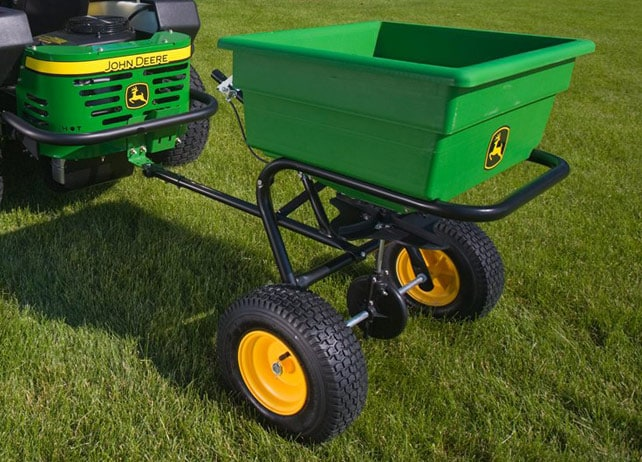 125-lb. Pull-Type Spin Spreader Yard & Lawn Care