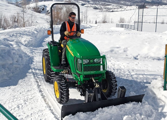 380A Front Blade is used to remove snow from in and around a park area