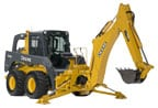Skid Steer with BH8 Backhoe Attachment