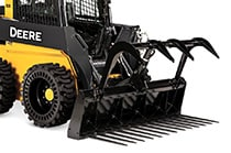 Utility Grapple Attached to Skid Steer