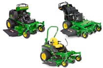 Studio lineup image of commercial mowers
