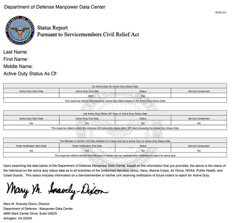 The Department of Defense does not verify employment for active duty military members or for civilian employees by telephone. If you are seeking verification of military service or employment with DoD by phone, please use the contact phone numbers on the person's resume, or application, to reach the DoD office or military organization at which they work or have worked previously.