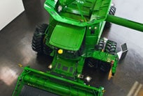 John Deere combine on display at Harvester Works
