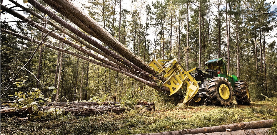 OPEN WIDE and meet the ultimate tree hugger – the FD55 Felling Head