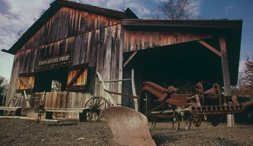 John Deere Blacksmith shop at historic site
