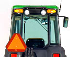 Tractor windshield