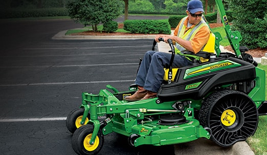 Photo of Michelin X Tweel Turf Airless Radial Tire on a ZTrak Zero-Turn Mower