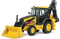 Studio view of the 315SL Backhoe Loader