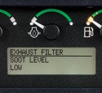 close up of exhaust filter settings on monitor