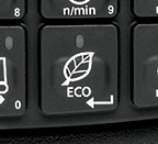 close-up of Eco button