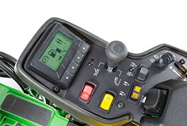 Close-up image of diagnostics on TechControl command arm