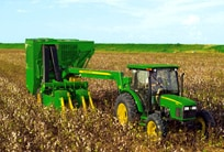 7260 Tractor-Mounted Cotton Picker: Economical Harvesting Power.