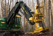 The worst of the woods brings out the best in a 900K-Series Feller Buncher