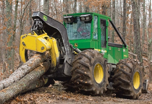 548G-III Grapple Skidder picking up multiple logs
