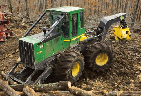 548G-III Grapple Skidder on the jobsite