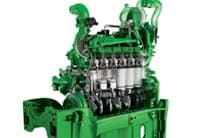 Closeup of 8R/8RT Series Tractor engine
