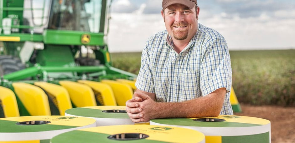 The cotton yields are high with John Deere Irrigation & Water Management