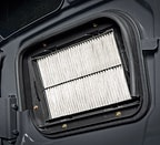 Close up of the air filter