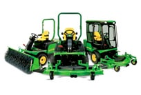 Front mowers with various attachments