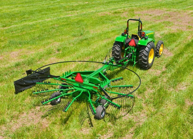 RR23 Series Rotary Rake at work in a hay field