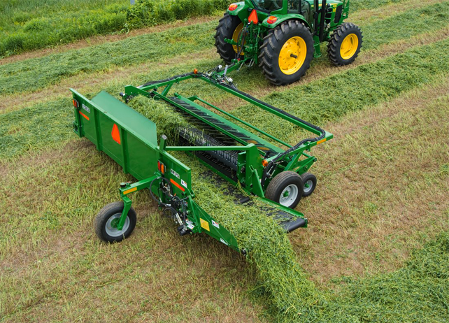 HM12 Series Hay Merger prepares hay for harvesting