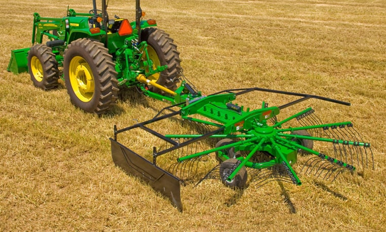 Rotary Rake prepares hay for harvest