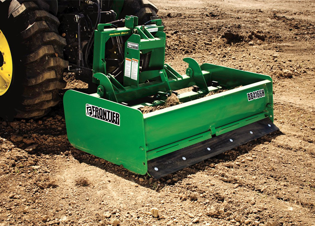 BB41 Series Box Blade smooths dirt patch