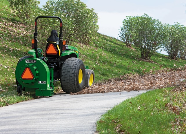 BL11 Series 3-Point Debris Blower clears path of leaves