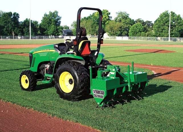 Frontier CA2060E aerates baseball diamond