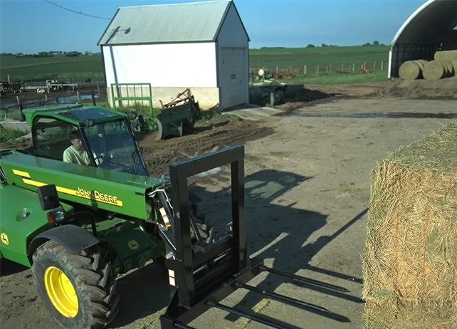 how to move wet hay bales