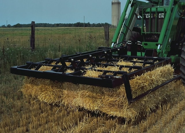 AB16 Bale Fork transports hay through field