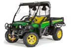 Follow link to the Gator XUV 825i (Green & Yellow) Utility Vehicle (MY15) product page.