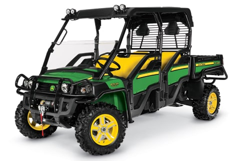 Studio shot of XUV 825i S4 in Green and Yellow.
