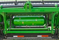 Closeup of the 600D Draper's larger feed drum