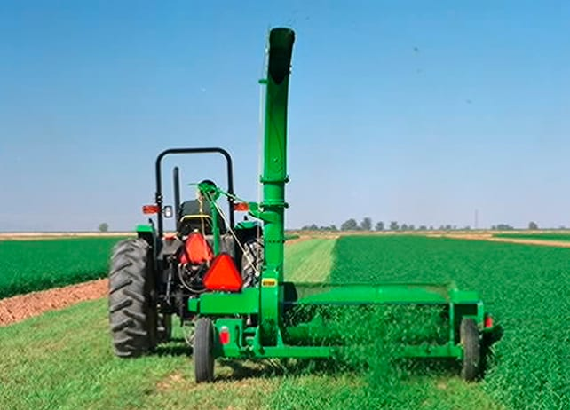 972 Flail Chopper pulled by John Deere Tractor