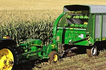 Image of John Deere PTO Forage Harvester in a corn field