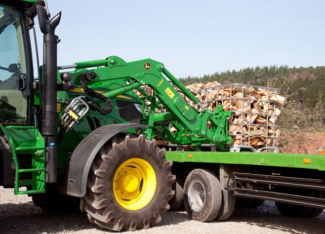 H340 Loader transports chopped wood