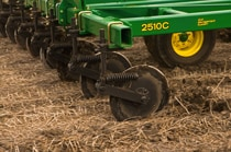Closeup of the 2510C Nutrient Applicator cutting disks