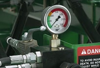 Active hydraulic down pressure