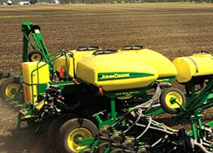 Side profile of the Central Insecticide System from Deere