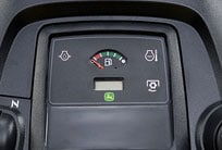 Close-up image of fuel gauge