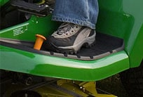 Close-up image of traction assist pedals