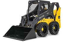 Studio view of a 318G Skid Steer