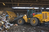 724K WH Wheel Loader moving waste
