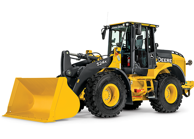 Studio view of a 524K Wheel Loader
