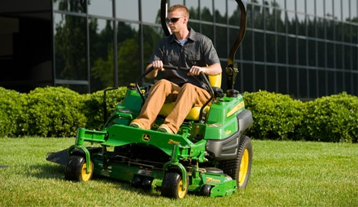 Follow the link to watch the 7-Iron Mower Decks with Mulch On Demand in action