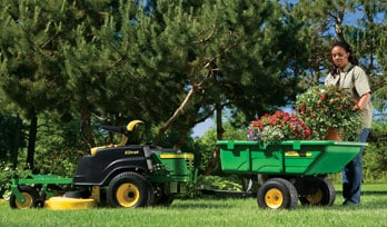 View riding lawn equipment attachments brochure