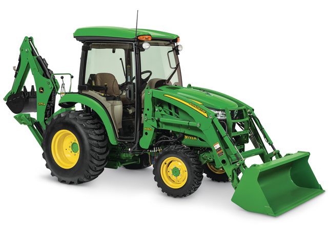 Studio image of H160 Front Loader on a tractor