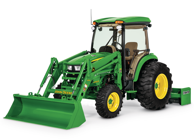 Studio image of H180 Front Loader on a tractor