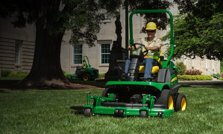 Front Mower mowing grass image